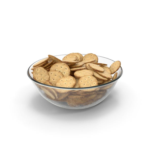 Bowl with Circular Crackers