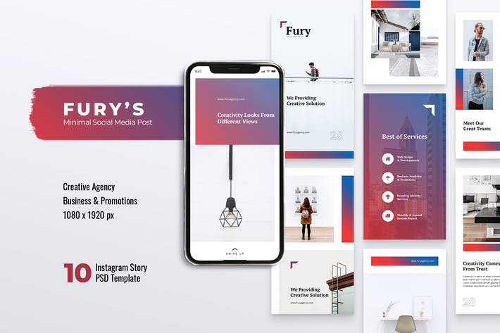 Thumbnail for FURY Creative Agency Instagram Stories