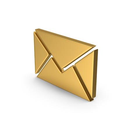 Gold-Symbol-Nachricht