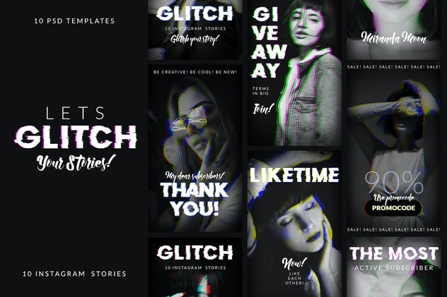 Glitch Instagram Stories - product preview 0