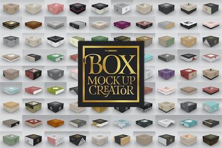 Box Mockup Creator - Квадратная коробка издание