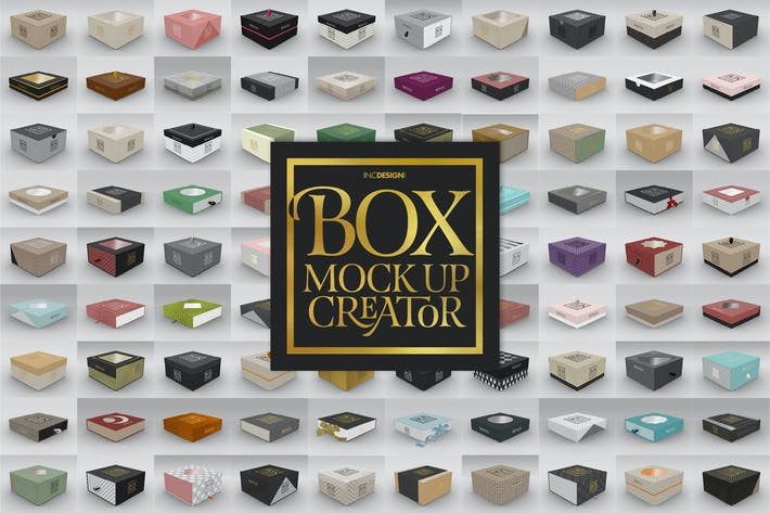 Thumbnail for Box Mockup Creator - Square Box Edition