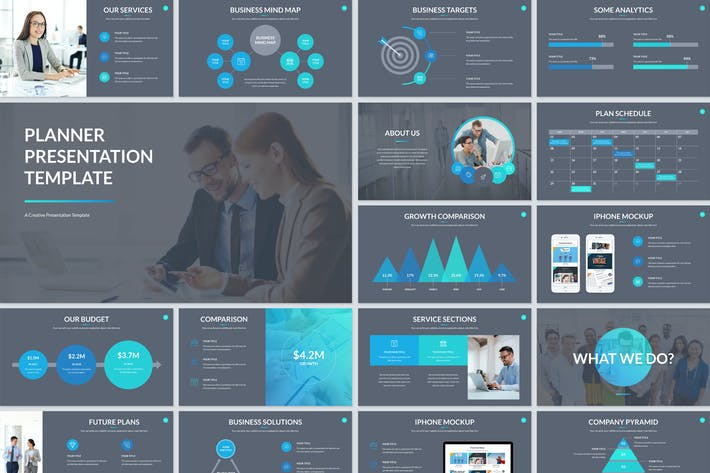 Thumbnail for Planner Presentation Keynote Template