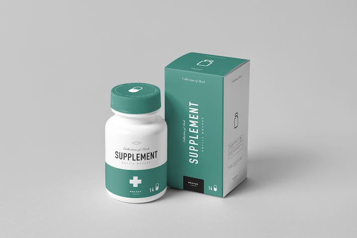 Thumbnail for Supplement Bottle Mock-Up