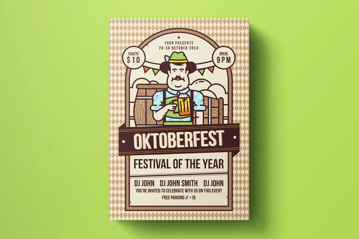 Thumbnail for Oktoberfest Flyer Template