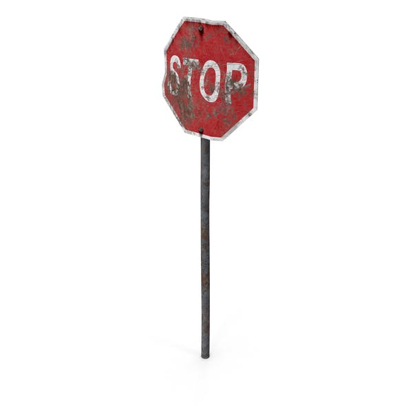 Destroyed Stop Sign