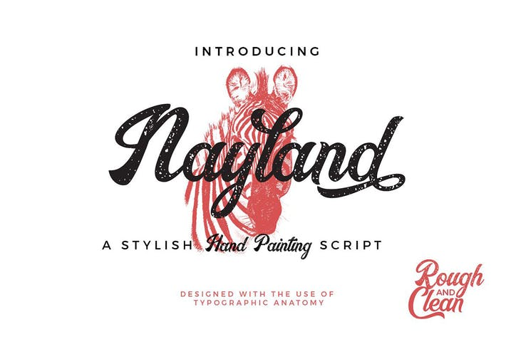 Thumbnail for Nayland Retro Script