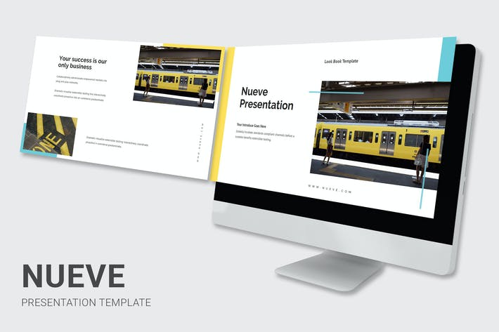 Thumbnail for Nueve - Желтый тон Бизнес Слайды Google