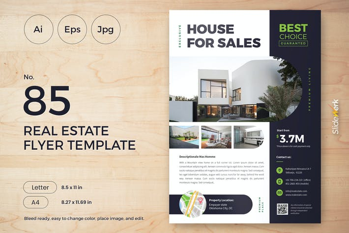 Thumbnail for Real Estate Flyer Template 85 - Slidewerk
