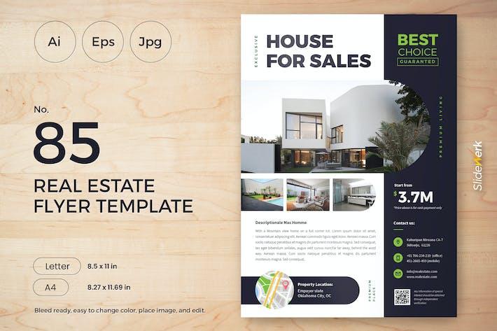 Cover Image For Real Estate Flyer Template 85 - Slidewerk