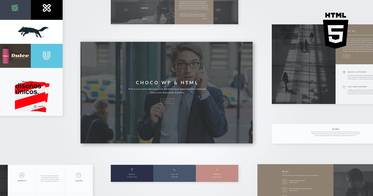 Choco | Multipurpose HTML by AgniHD