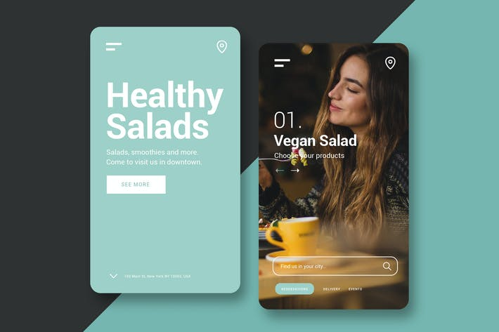 Thumbnail for Restaurant - Mobile UI Kit