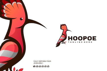 Hoopoe Bird Color Mascot Logo