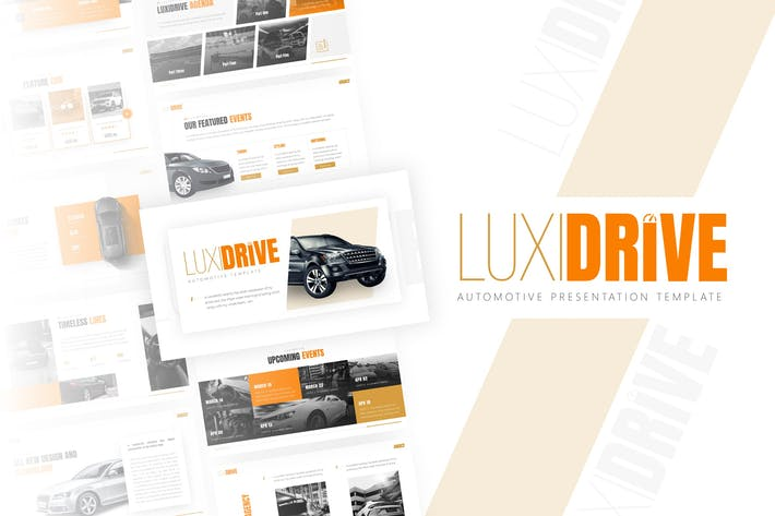 Thumbnail for Luxidrive - Automotive PowerPoint Template