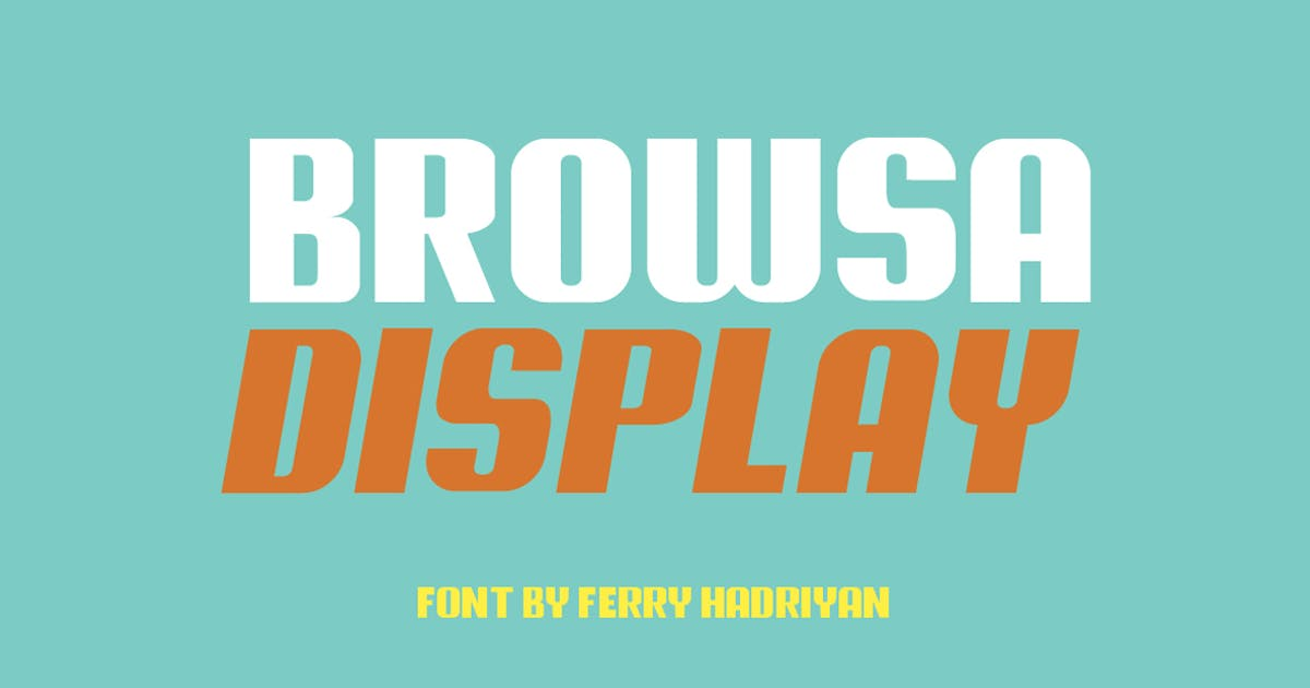 Download Browsa - Display Font by Voltury