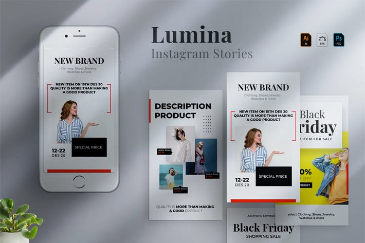 Cover Image For Lumina - Instagram stories Template 06