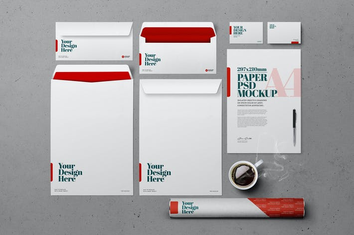 Thumbnail for Stationery Mockup - Cement Background