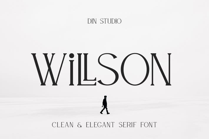 Thumbnail for Willson - Modern Serif Font