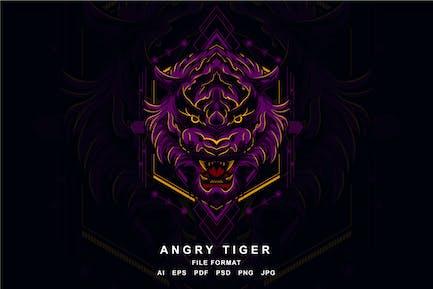 Wütender Tiger