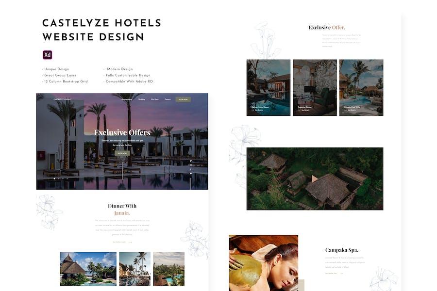 Castelyze - Hotel Website Design Template
