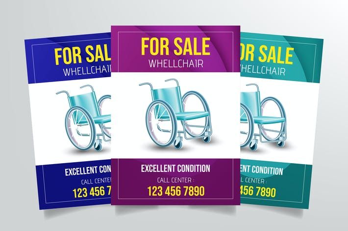 Thumbnail for Wheelchair Sale Flyer Template