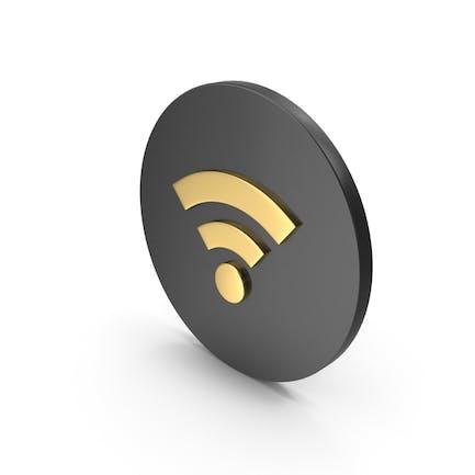 WiFi Значок Золотой