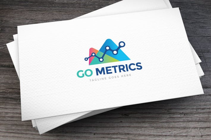 Cover Image For Go Metrics Logo Template