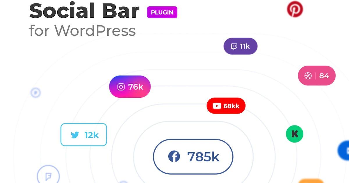 Download Social followers bar for WordPress by merkulove