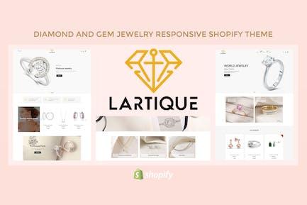Lartique - Diamond And Gem Jewelry Shopify Theme