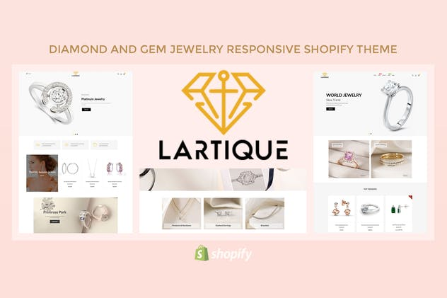 Lartique - Diamond And Gem Jewelry Shopify Theme