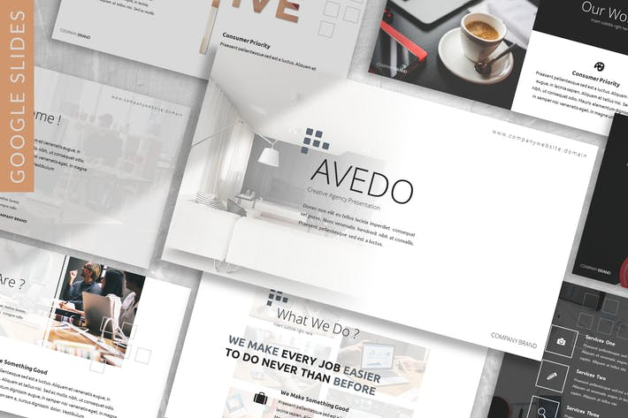Thumbnail for Avedo - Business Google Slides Template