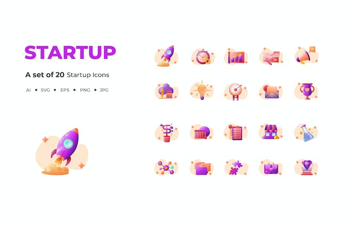 Thumbnail for 20 Startup Icons