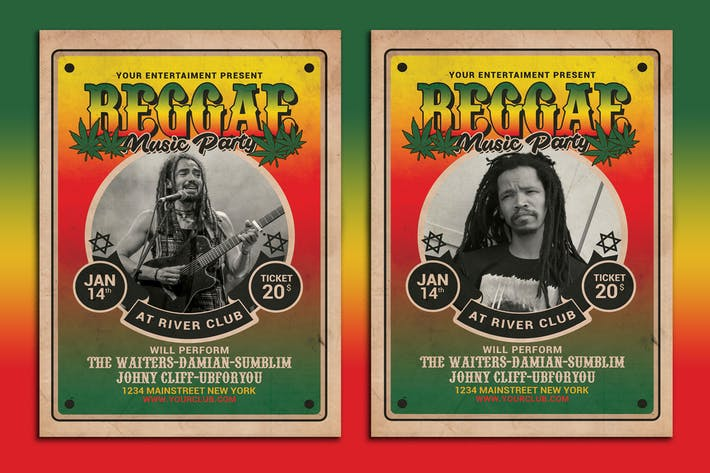 Thumbnail for Reggae Music Flyer