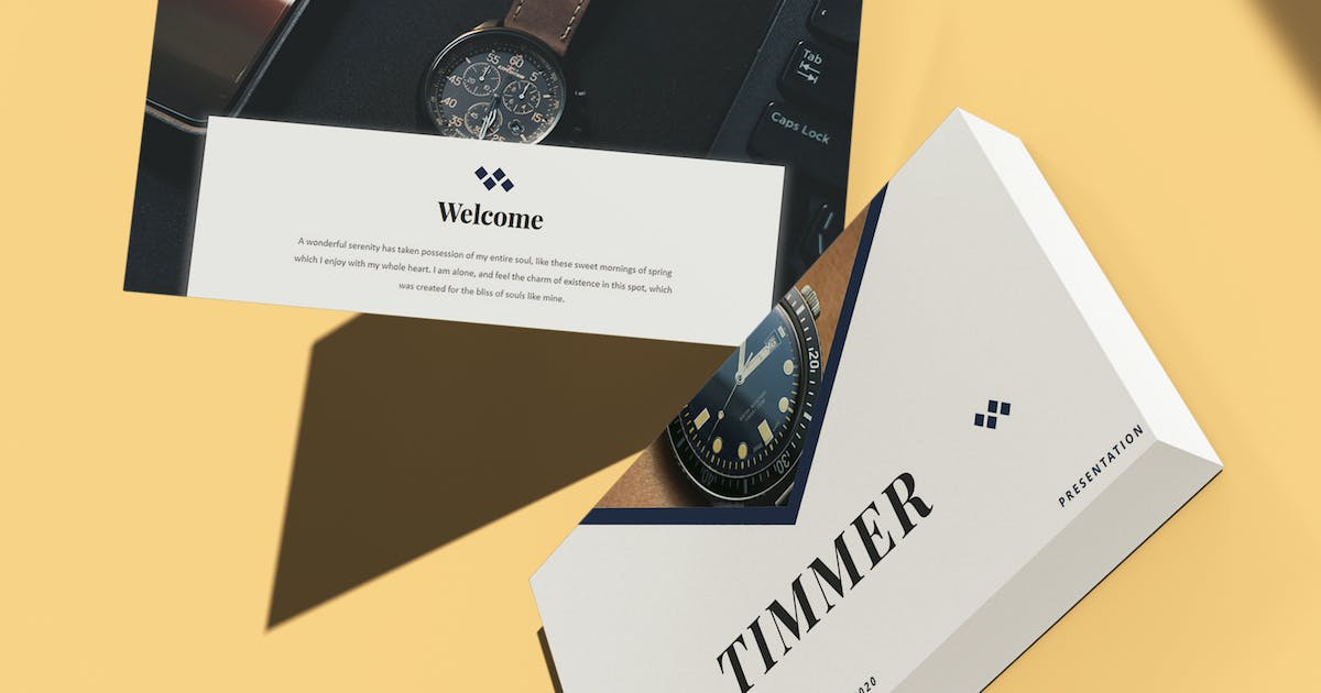 Download Timmer - Watch Template PowerPoint Template by raseuki