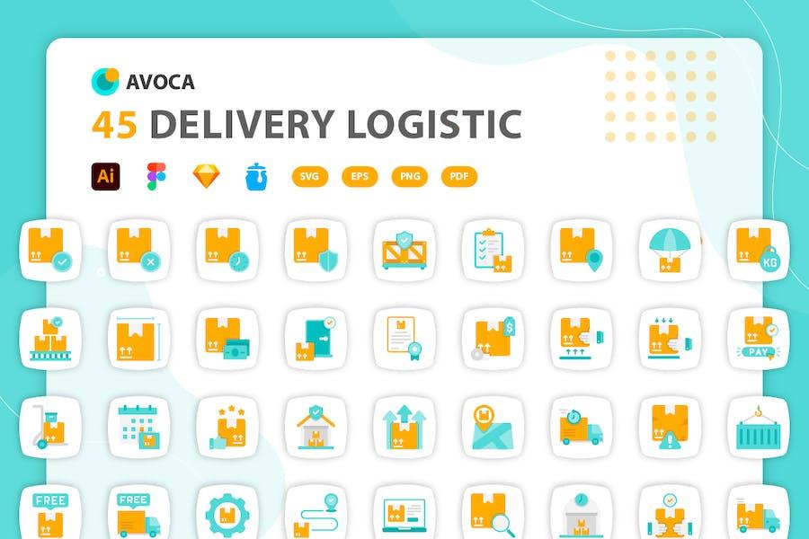 Avoca - Delivery Logistics Icons