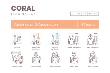 Vaccines and Vaccination Icons