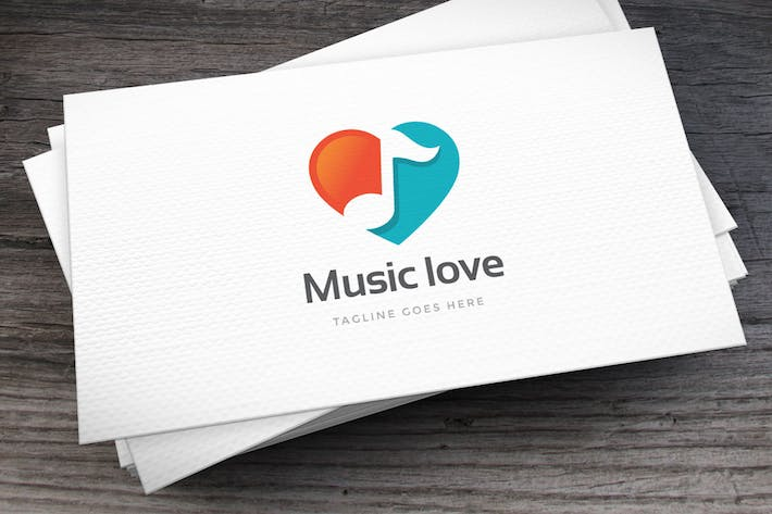Thumbnail for Music Love Logo Template