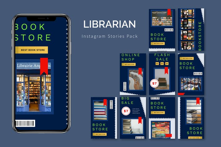 Librarian - Instagram Story Pack