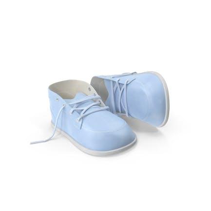 Blau Babyschuhe