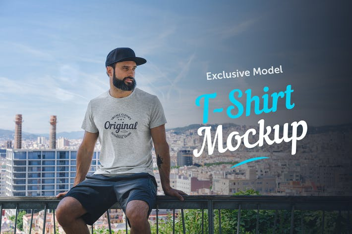 Thumbnail for T-Shirt Mockup with Model