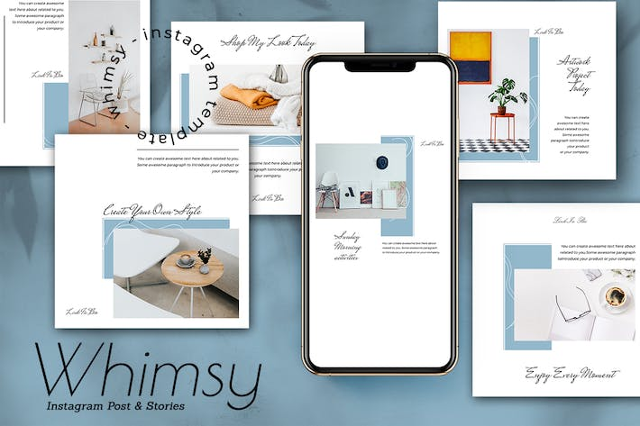 Whimsy Instagram Post and Stories