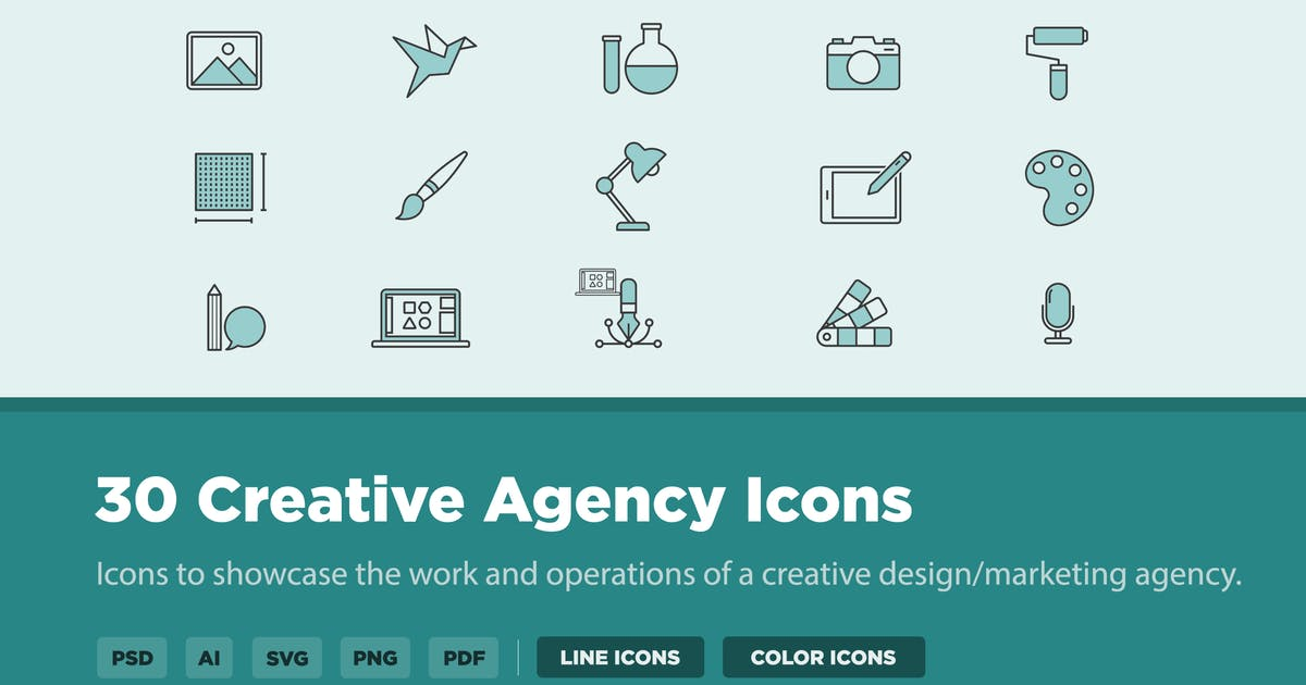 Download 30 Creative Agency Icons by creativevip