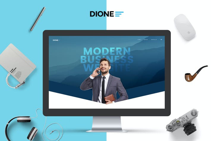 Thumbnail for Dione - Modern Business PSD Template