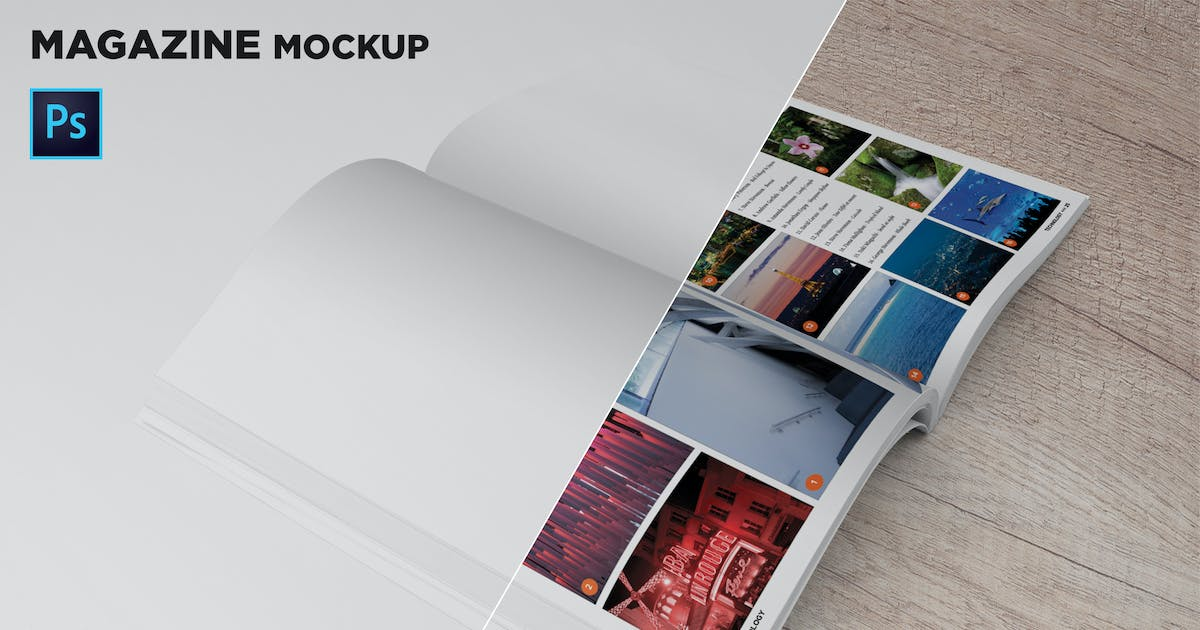 Download Magazine Mockup 45 Degree by andre28