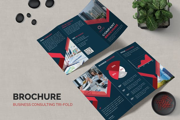 Business Corporate Trifold Brochure Template