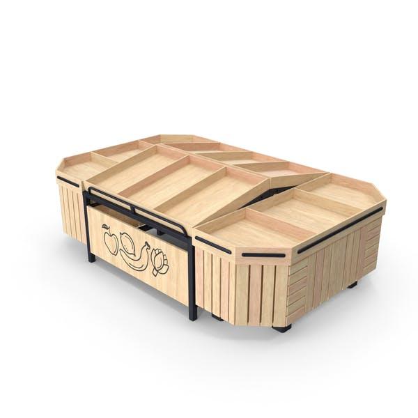 Wooden Produce Display Rack