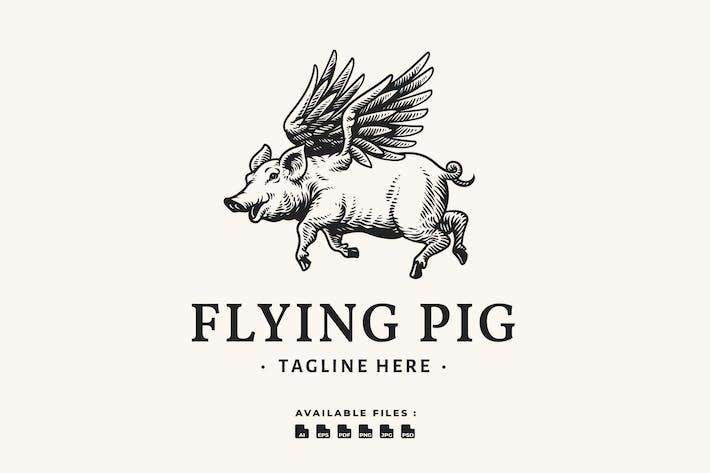Thumbnail for Flying Pig Handrawn Logo