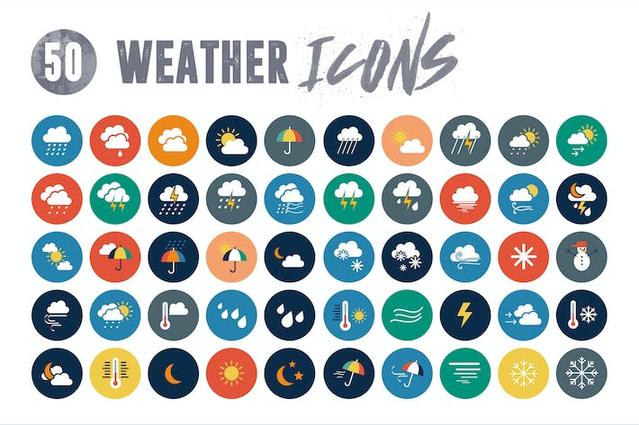 Thumbnail for 50 weather icons