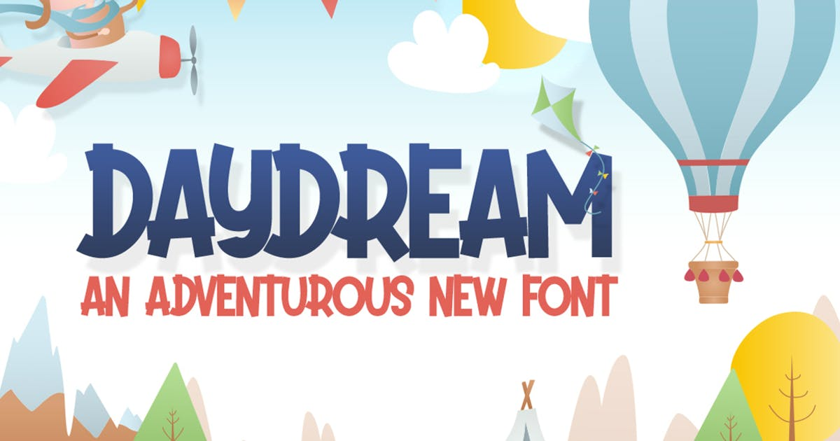 Download Daydream Kids Font by maroonbaboon