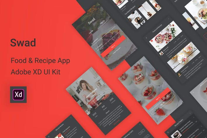 Thumbnail for Swad - Food & Recipe Adobe XD UI Kit